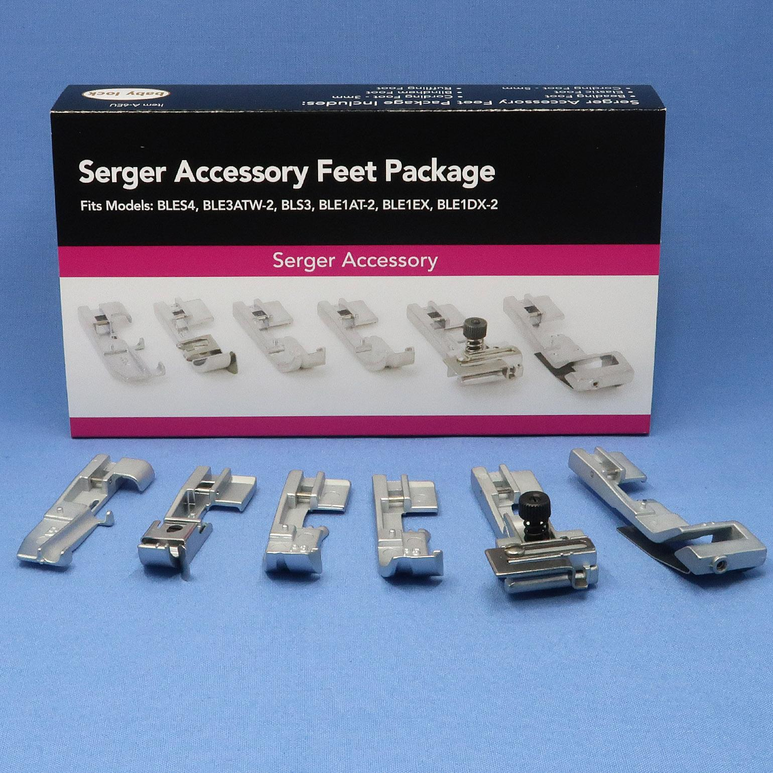 6 Pack of Accessory Feet (4-Thread Machines)