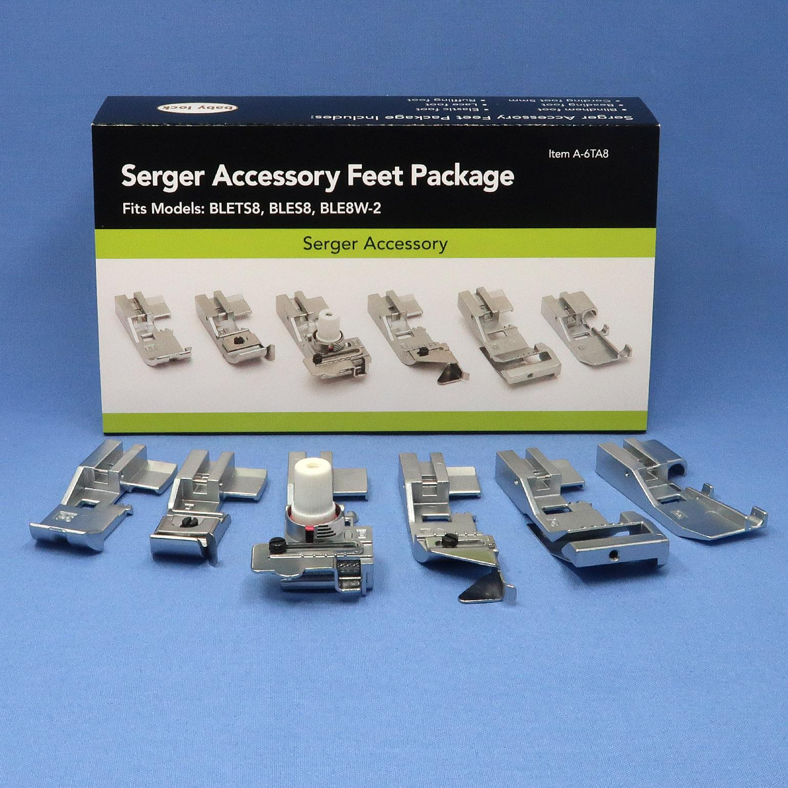 6 Pack of Accessory Feet (8-Thread Machines)